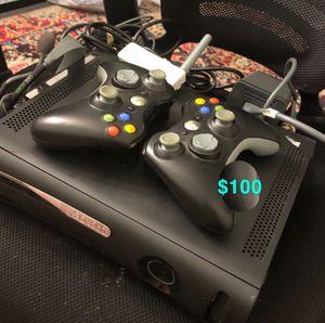 Microsoft Xbox 360 Elite 120G HDD 3 Controllers w/Wireless wifi adapter for Sale in Woodbridge, VA