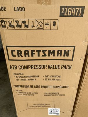 Craftsman air compressor with impact gun and ratchet for Sale in Antioch, CA