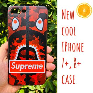 New cool iphone 7+ or iphone 8+ PLUS case rubber supreme bape aape hypebeast hype swag men's women's guys for Sale in San Bernardino, CA