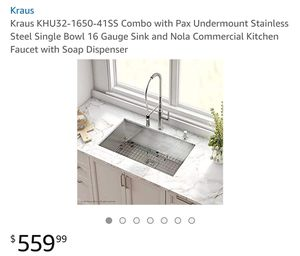 Brandnew Sink with soap dispenser for Sale in San Diego, CA