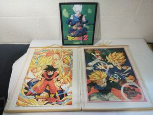 Dragon Ball Z GT Wall Art Bundle 2 Scrolls 1 Framed Picture for Sale in Grosse Pointe Shores, MI