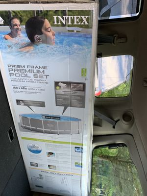 "New Intex 15' x 48"" Prism Frame Pool - Gray for Sale in Sudley Springs, VA"