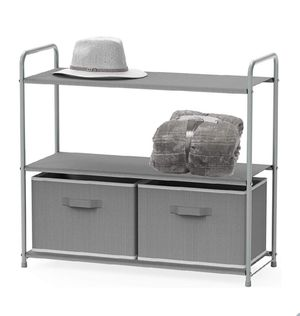 Simple Houseware 3-Tier Closet Storage with 2 Drawers, Grey for Sale in Covina, CA