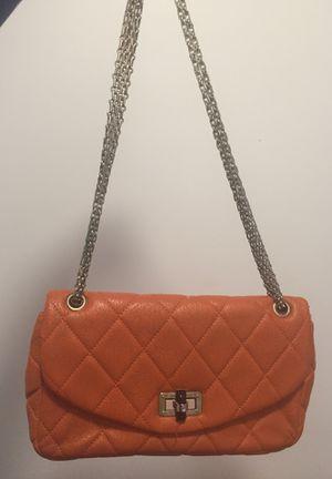 Melón/Orange with gold chain, crossbody purse for Sale in Washington, DC