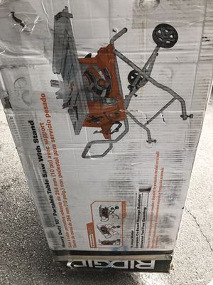 "Ridgid 10"" portable Table saw witch stand for Sale in North Las Vegas, NV"