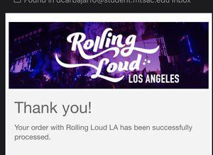 Rolling Loud ticket 4 sale for Sale in Ontario, CA
