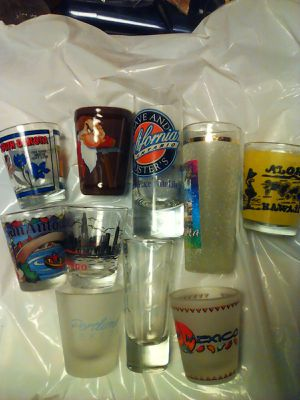 Shot glasses shot glass lot Disney San Antonio South Dakota Mexico Oregon Hawaii for Sale in Hawthorne, CA