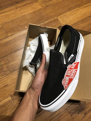 Vans slip on black size 8 new (Ig Wanderxhou) for Sale in Houston, TX