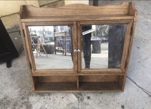 Antique wood medicine cabinet for Sale in Los Angeles, CA