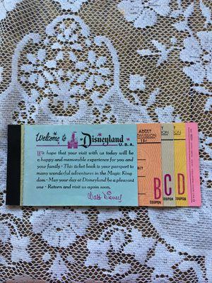Disney ticket book 1960's for Sale in Elgin, IL