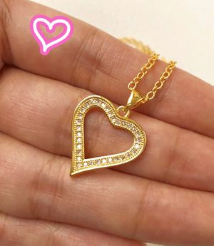 18K Gold Filled Heart Charm Necklace for Sale in San Ramon, CA
