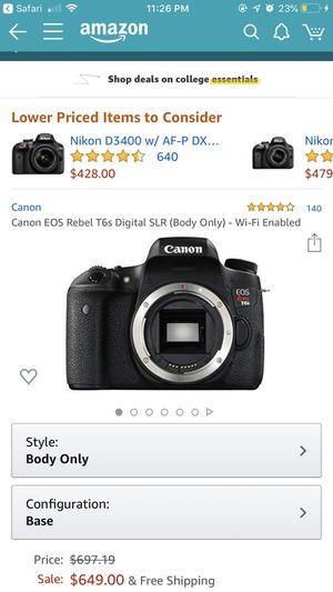 Canon t6s for Sale in Atlanta, GA
