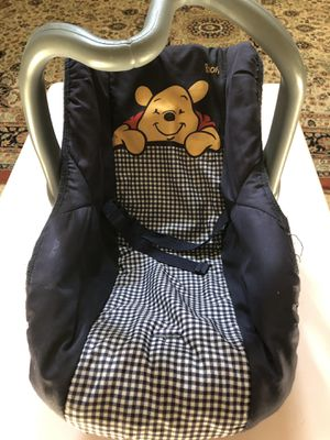Winnie the Pooh doll car seat for Sale in Valley Center, CA
