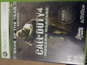 XBOX 360 CALL OF DUTY 4 for Sale in Glendale, CA