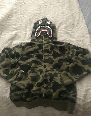 Bape first camo Og Frankenstein shark hoodie size Large for Sale in Pleasanton, CA