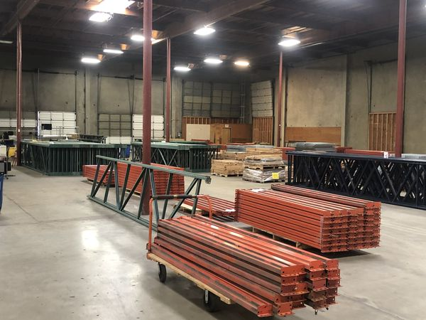 Business liquidation- Racking, carts, Retail Counter., Fork lifts, printers, tons of Great Stuff