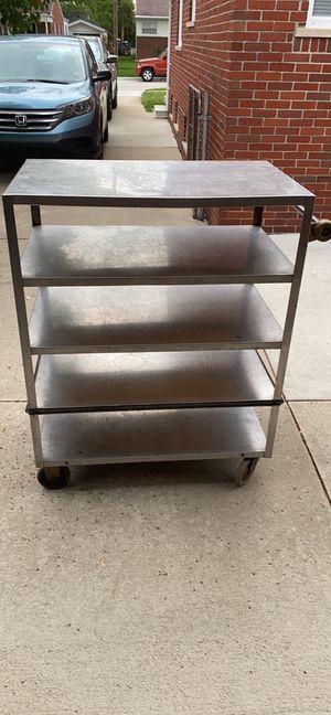 Stainless steel push cart for Sale in Warren, MI