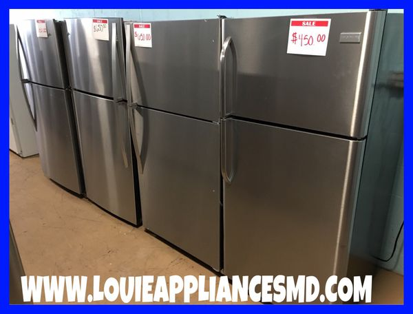 STAINLESS STEEL TOP BOTTOM FREEZER FRIDGES