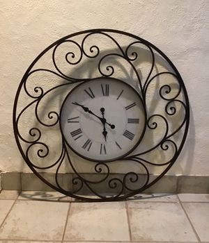 "Iron 36"" wall clock, for Sale in Westlake, MD"