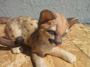 LENOX FLORIDA PANTHER Cub Endangered Species Statue Vintage Collectible 1991 Handcrafted for Sale in Montebello, CA