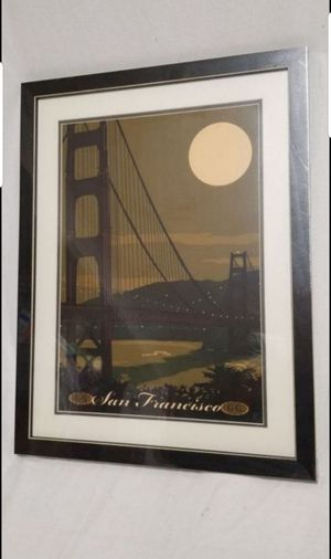 Northwest Art Mall MR-1479 LGGDM Golden Gate Bridge Framed Wall Art by Artist Mike Rangner, 20 x 26-Inch. New, PRICE IS NOT NEGOTIABLE. for Sale in Palatine, IL