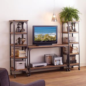 """World Market """"Aiden"""" entertainment consoles + coffee table for Sale in Montclair, NJ"""