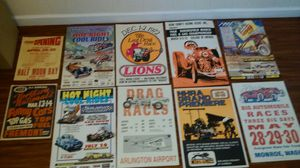 Thick paper cardboard drag racing signs for Sale in Tacoma, WA