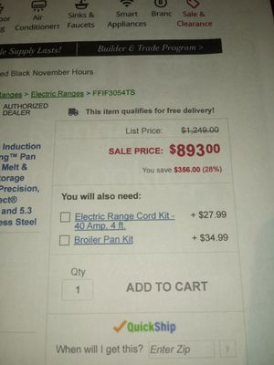 """Brand New never used Frigidaire 30"""" Range for Sale in Edna, TX"""
