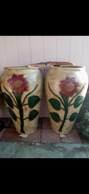 Bonitos jarrones grandes $150 el par for Sale in Fontana, CA