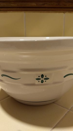 """Longaberger pottery mixing bowl woven traditions 8"""" round X 41/2# tall for Sale in Covina, CA"""