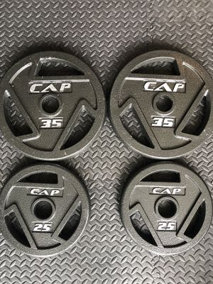 New Olympic weight plates - weight Lifting for Sale in Orlando, FL
