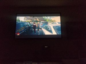 """Beautiful 120"""" projector screen with velvet frame!! for Sale in Keller, TX"""