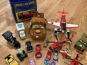Disney Pixar Cars Lot - McQueen, Sarge, Mater, Dusty Crop Hopper for Sale in Beaverton,  OR