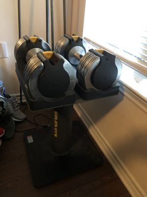 Golds gym dumbbells for Sale in Round Rock, TX