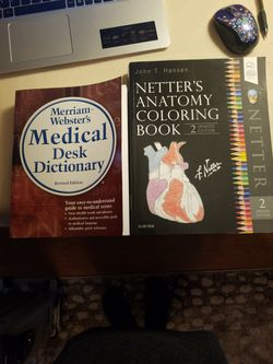 Medical Dictionary and Anatomy Coloring Book for Sale in Rochester,  NY
