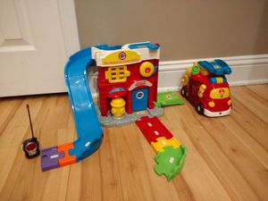 Fisher-price fire house and the car for Sale in Bolingbrook, IL