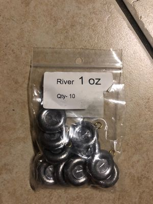 Fishing 1 oz Sinker Weight Pack of 10 for Sale in El Monte, CA