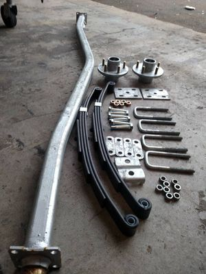 Boat Trailer Axles - spring 3500 gvw galvanized - includes springs and 5 lug hubs. Boat Trailer spring axles - we offer installation- trailer repair for Sale in Plant City, FL