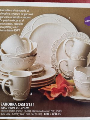 Princess House Marbella 16 Pc. Serving Set (Serves 4 People) - NEW for Sale in Rialto, CA
