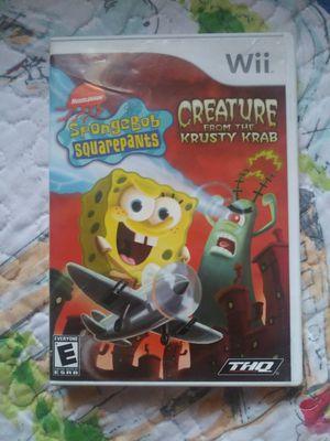 Wii spongebob squarepants for Sale in Anaheim, CA