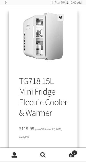 Think Gizmos 15L Mini Fridge / warmer - 110 or 12 volt for Sale in Bakersfield, CA