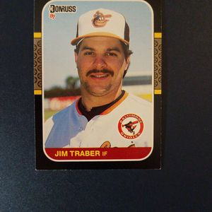 Jim Traber 1986 Leaf Baseball Card for Sale in Woodbine, MD