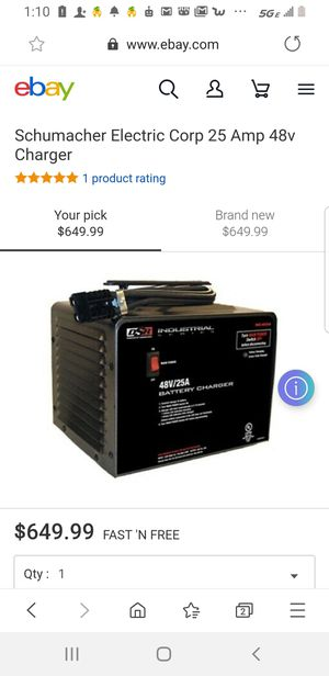 DSR INDUSTRIAL SERIES 48V25A BATTERY CHARGER for Sale in Richmond, CA