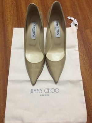 NEW IN BOX- Jimmy Choo Patent Leather Nude Pumps sz 7/37 for Sale in San Francisco, CA