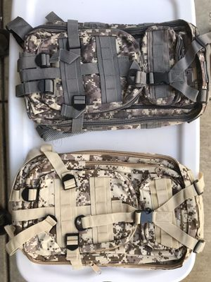 Camouflage hiking backpacks for Sale in Modesto, CA