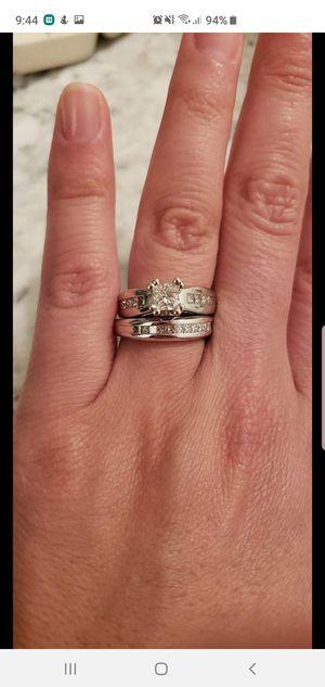 Beautiful diamond wedding ring set size 6.25 for Sale in Atlanta, GA
