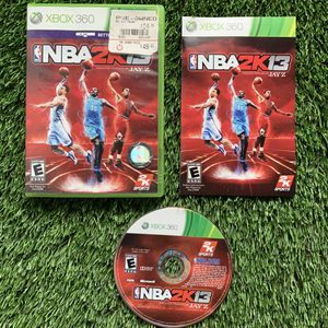 Xbox 360 nba 2k13 2k sports video game disc manual case complete set gaming for Sale in Duluth, GA
