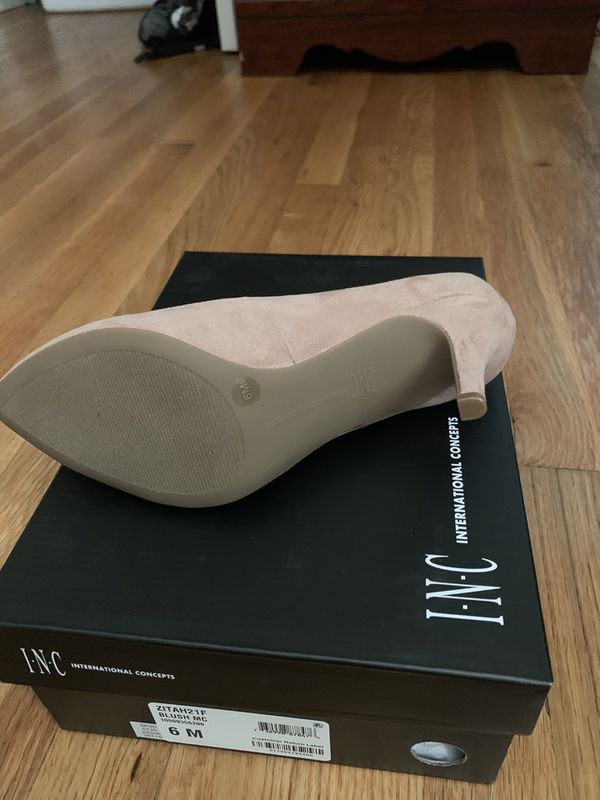 INC high heels shoes women size 6 brand new suede