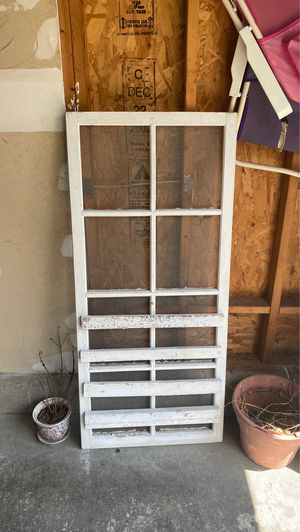Decorative white screen door for Sale in Pataskala, OH