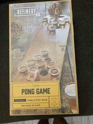 Wooden Pong Game with 25 glasses for Sale in San Diego, CA
